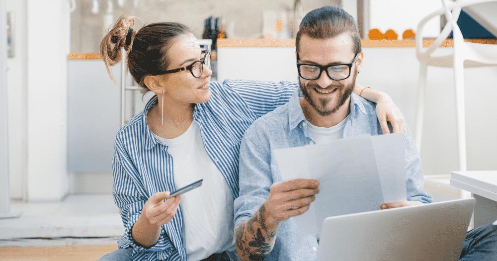 Couple Repaying Debt